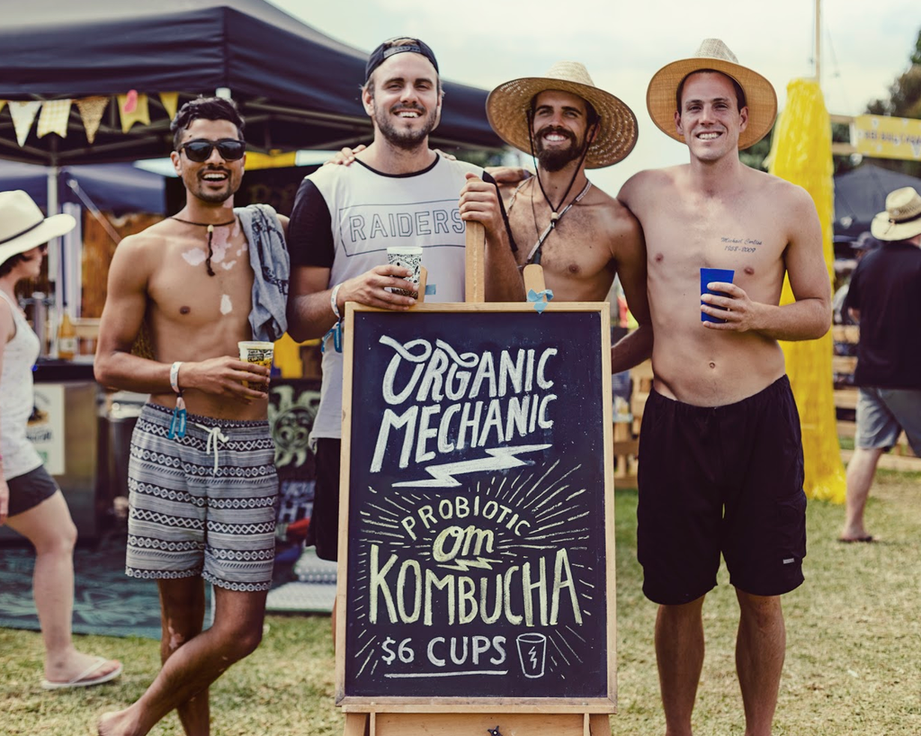 Organic Mechanic Kombucha founders