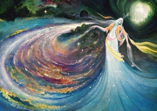 New Moon Ritual Artwork by Rassouli